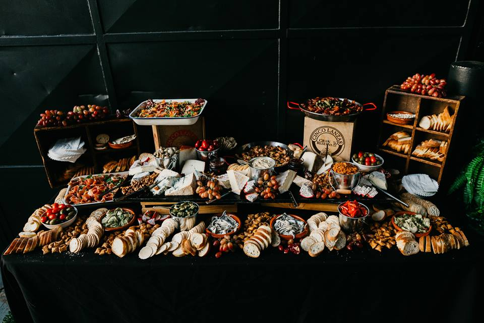 grazing board available for functions catering at tapasman